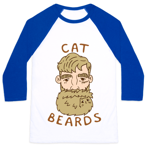 Blonde Cat Beards Baseball Tee