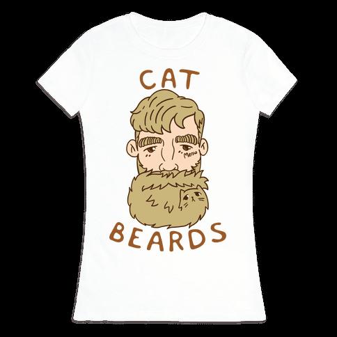 Blonde Cat Beards Womens T-Shirt