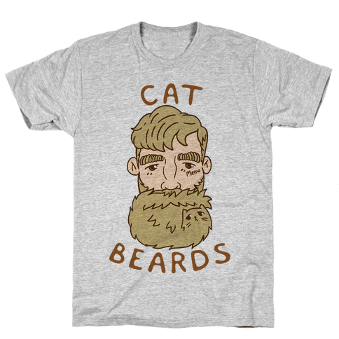 Blonde Cat Beards Mens T-Shirt