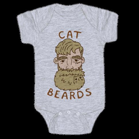 Blonde Cat Beards Baby Onesy