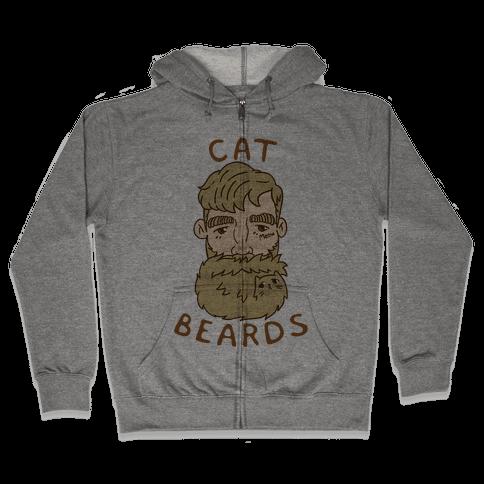 Blonde Cat Beards Zip Hoodie
