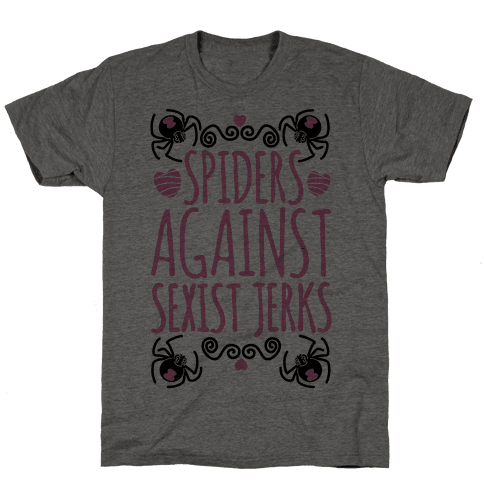 Spiders Against Sexist Jerks Mens T-Shirt