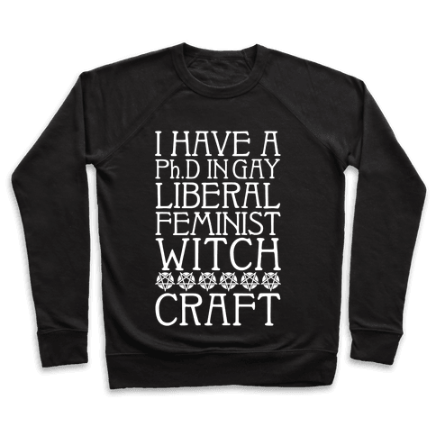 I Have A Ph.D In Gay Liberal Feminist Witchcraft Pullover