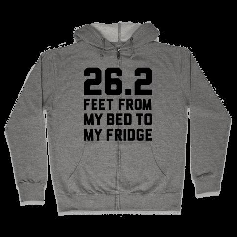 Bed To Fridge Zip Hoodie