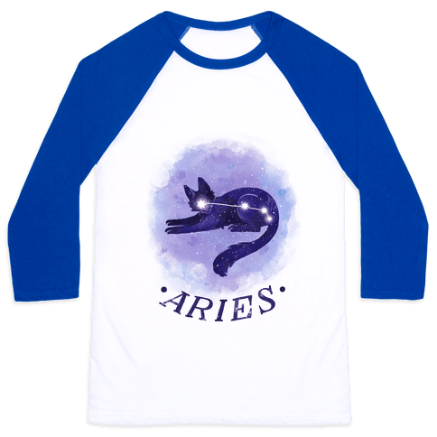 Cat Zodiac: Aries Baseball Tee