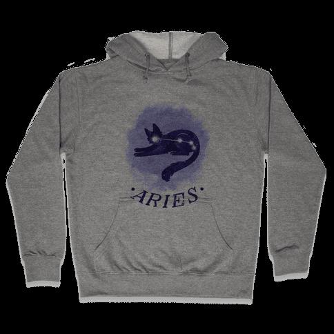 Cat Zodiac: Aries Hooded Sweatshirt