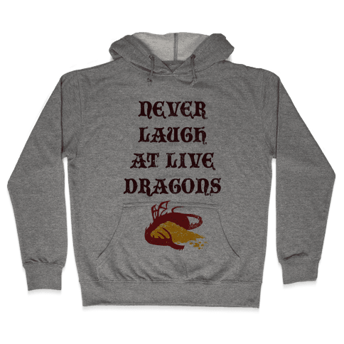 Never Laugh at Live Dragons Hooded Sweatshirt