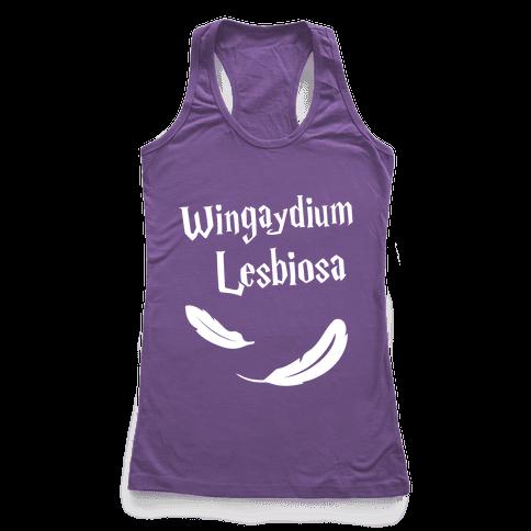 Wingaydium Lesbiosa Racerback Tank Top