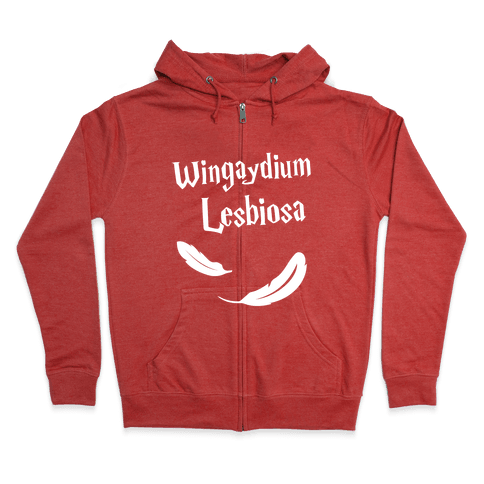 Wingaydium Lesbiosa Zip Hoodie