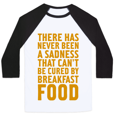 Breakfast Food Baseball Tee