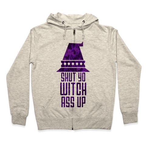 Witch Ass Zip Hoodie