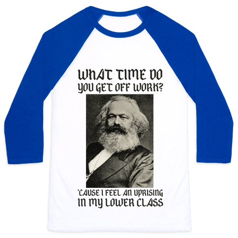 Marx Pick Up Line Baseball Tee