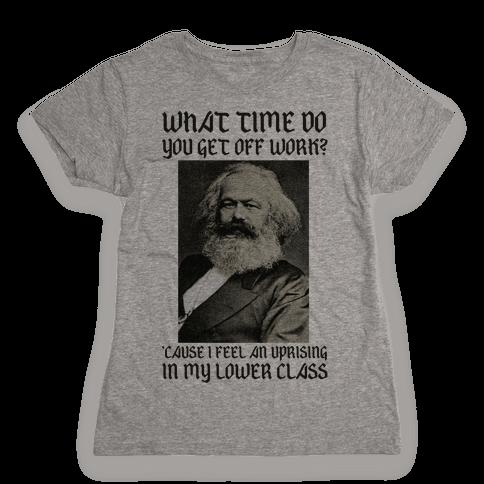 Marx Pick Up Line Womens T-Shirt