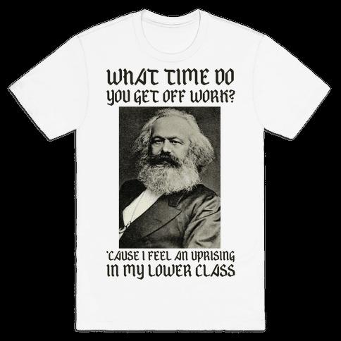 Marx Pick Up Line Mens T-Shirt