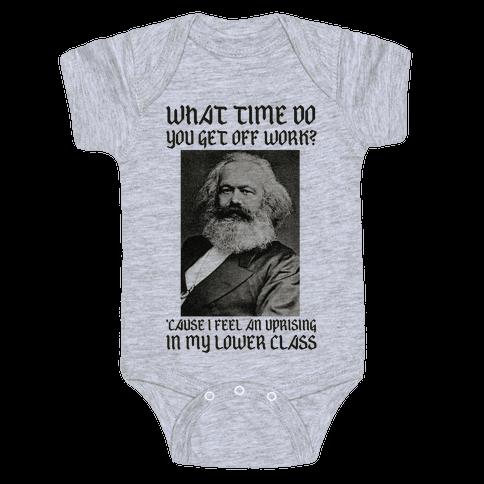 Marx Pick Up Line Baby Onesy