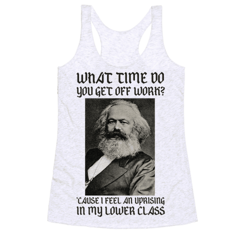 Marx Pick Up Line Racerback Tank Top