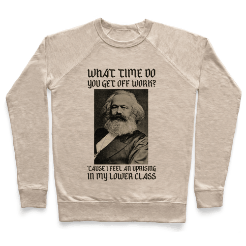Marx Pick Up Line Pullover