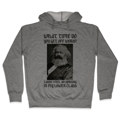 Marx Pick Up Line Hooded Sweatshirt