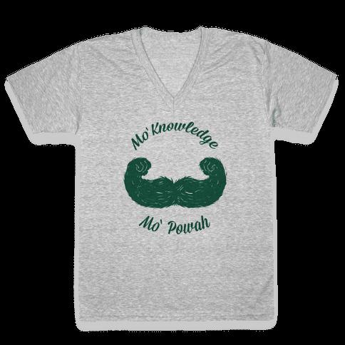 Mo Knowledge Mo Powah V-Neck Tee Shirt