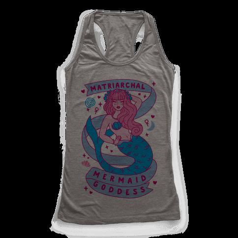 Matriarchal Mermaid Goddess Racerback Tank Top