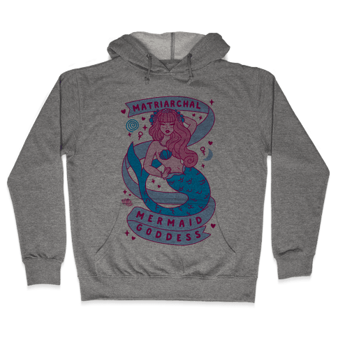 Matriarchal Mermaid Goddess Hooded Sweatshirt