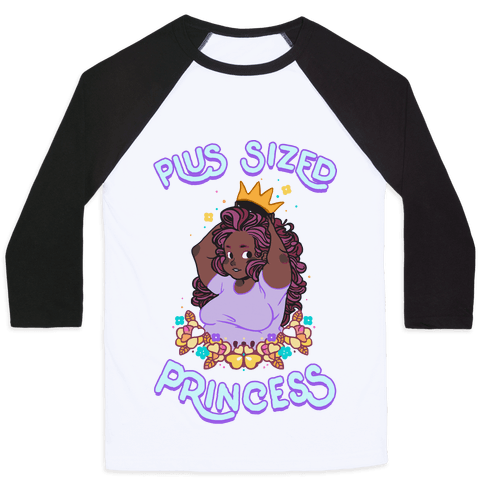 Plus Sized Princess Baseball Tee