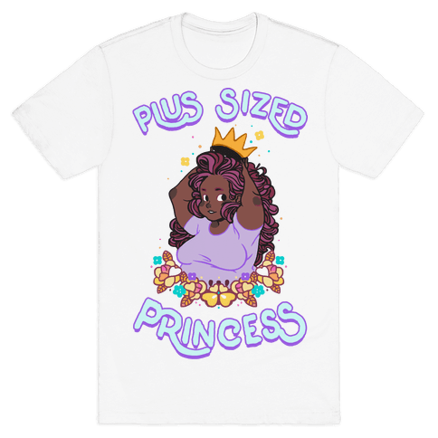 Plus Sized Princess Mens T-Shirt