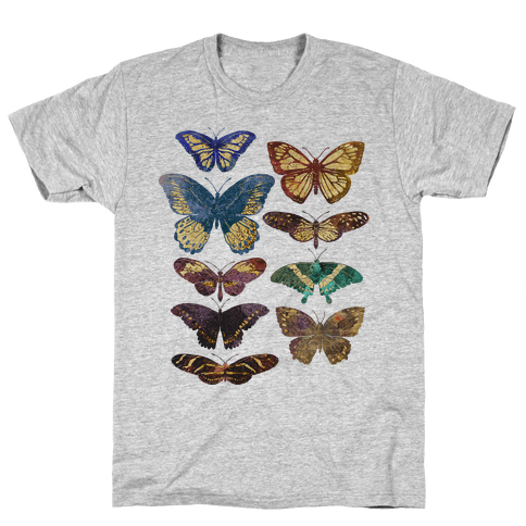 Butterfly Species Mens T-Shirt