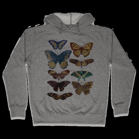 Butterfly Species Hooded Sweatshirt