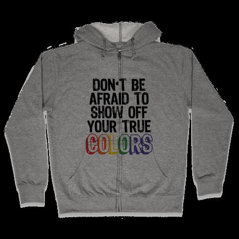 Colors Zip Hoodie