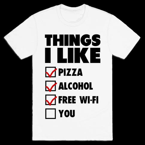 Things I Like Mens T-Shirt