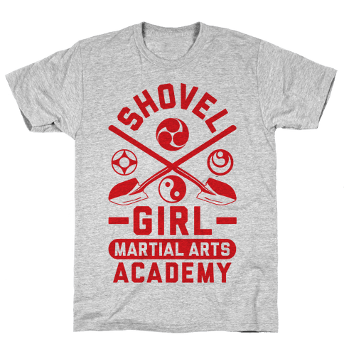 Shovel Girl Martial Arts Academy Mens T-Shirt