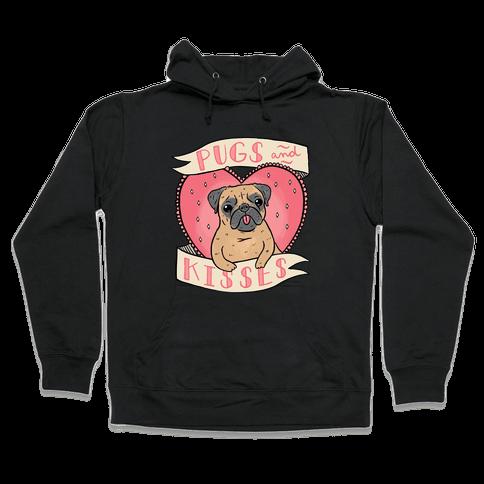 Pugs And Kisses Hooded Sweatshirt