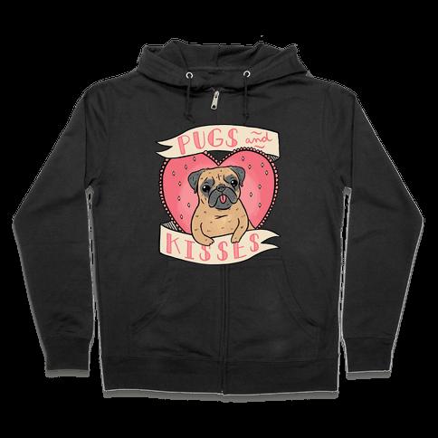 Pugs And Kisses Zip Hoodie