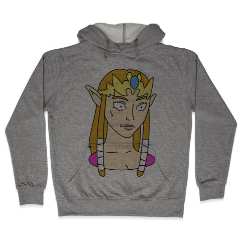 Zelda Face Parody Hooded Sweatshirt