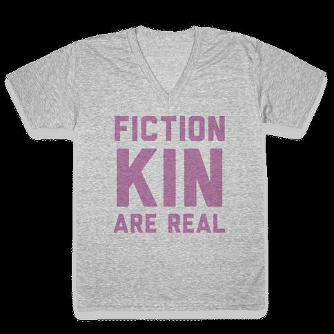 Fictionkin Are Real V-Neck Tee Shirt