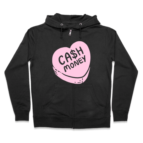 Cash Money Candy Heart Zip Hoodie