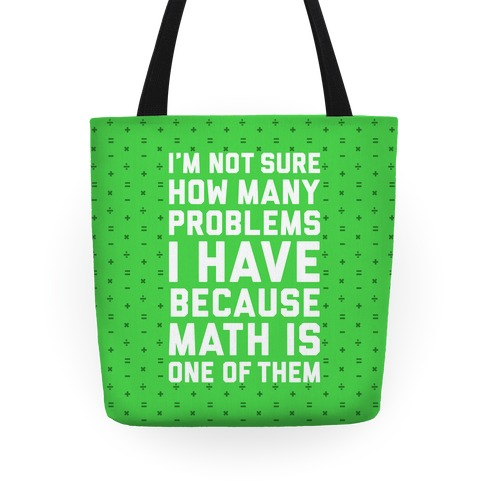 Math Problems Tote