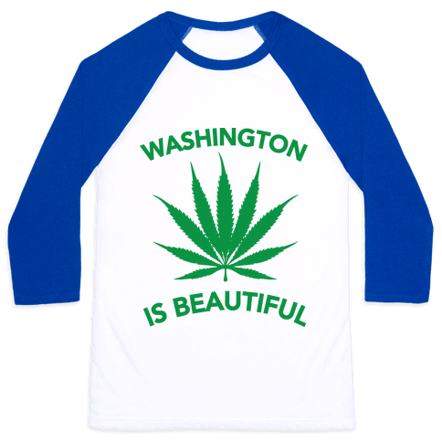 WASHINGTON IS BEAUTIFUL Baseball Tee