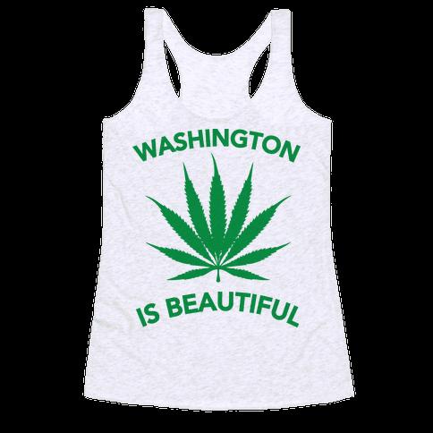 WASHINGTON IS BEAUTIFUL Racerback Tank Top