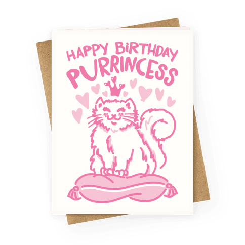 I'm A Purrincess Greeting Card
