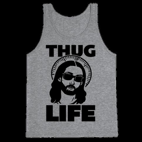 Thug Life Jesus Tank Top