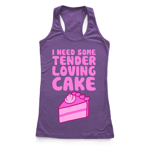 Tender Loving Cake Racerback Tank Top
