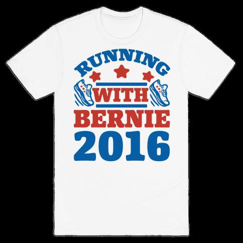 Running With Bernie 2016 Mens T-Shirt