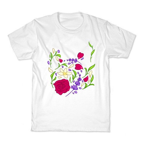 Floral Teapot Kids T-Shirt