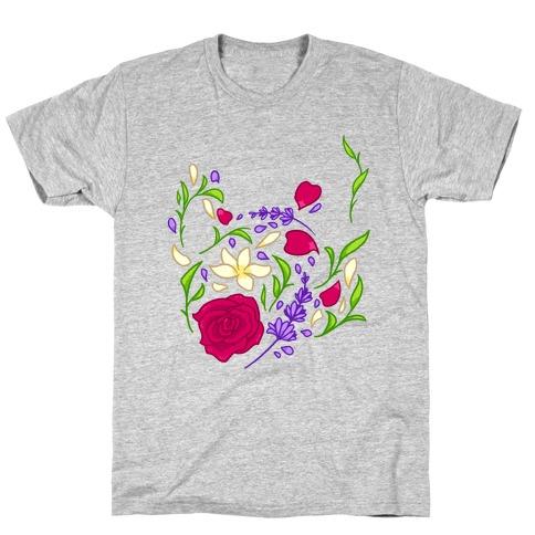 Floral Teapot Mens/Unisex T-Shirt