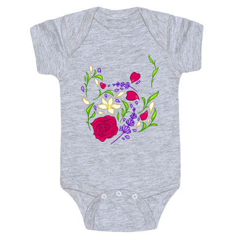 Floral Teapot Baby Onesy