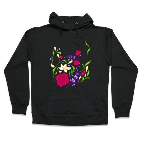 Floral Teapot Hooded Sweatshirt