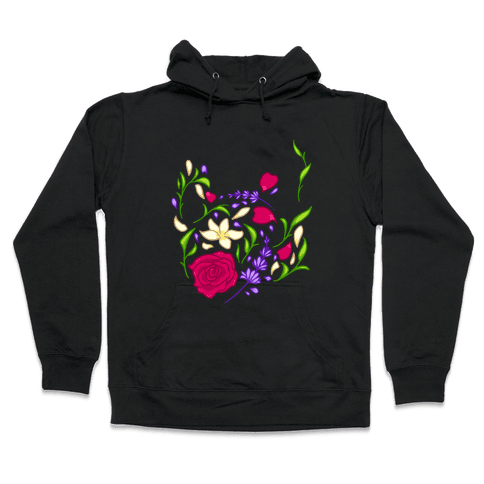 Floral Teapot Hooded Sweatshirt
