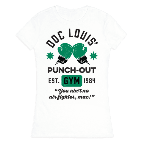 Doc Louis' Punch Out Gym Womens T-Shirt